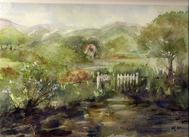2003 The White Gate Watercolour