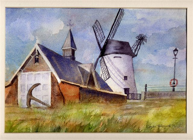 2004 Lytham Wind Mill Watercolour