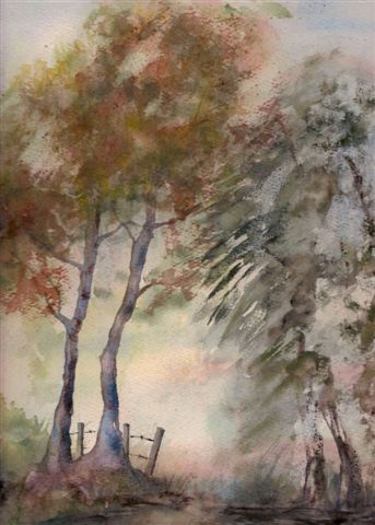 2006 Mist rising Watercolour