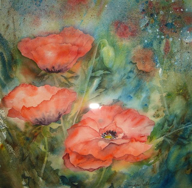 2007 Red Poppies 2 Watercolour