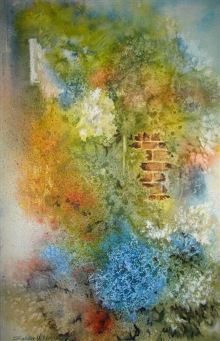 2007 The Walled Garden Watercolour