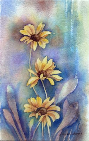 2007 Yellow Daisies Watercolour