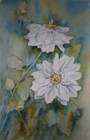 2008 Japanese Anemones 1 Watercolour