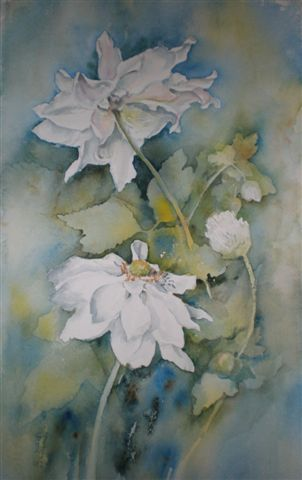 2008 Japanese Anemones 2 Watercolour