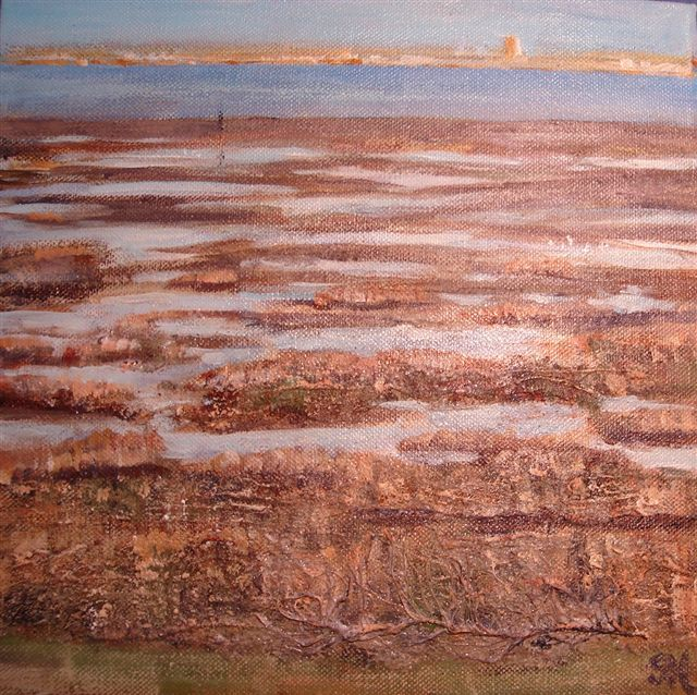 2008 Looking across to Southport Mixed Media