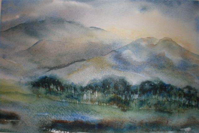 2009 Lake District View  Watercolour