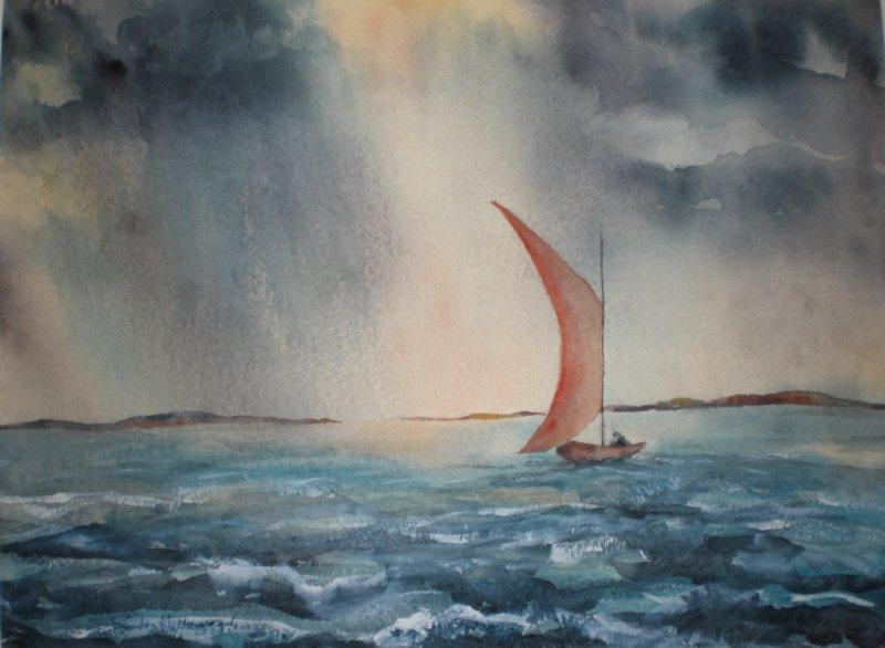 2010 Caught in the Storm Watercolour