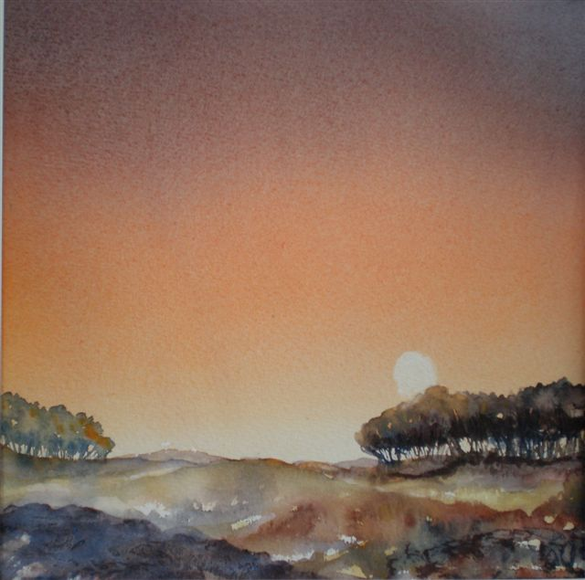 2010 Sunset Watercolour