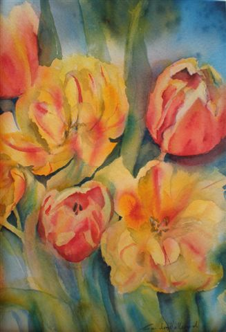 2010 Tulips Watercolour