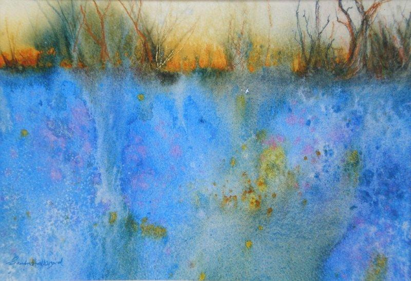 2011 Bluebell Wood Watercolour