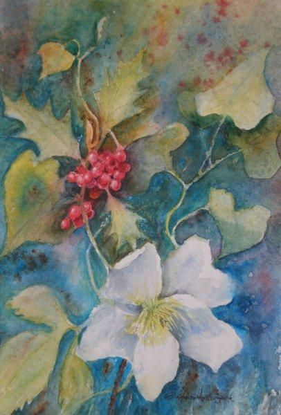 2011 Xmas flowers Watercolour