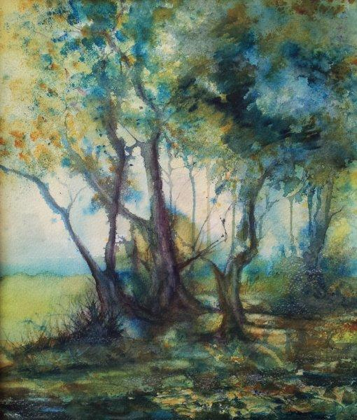 2012 Ancient Woodland Watercolor