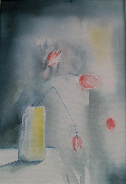 2012 Broken Tulip Watercolour