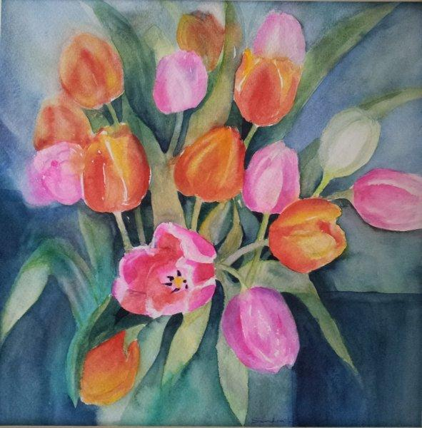 2012 Tulips Watercolour