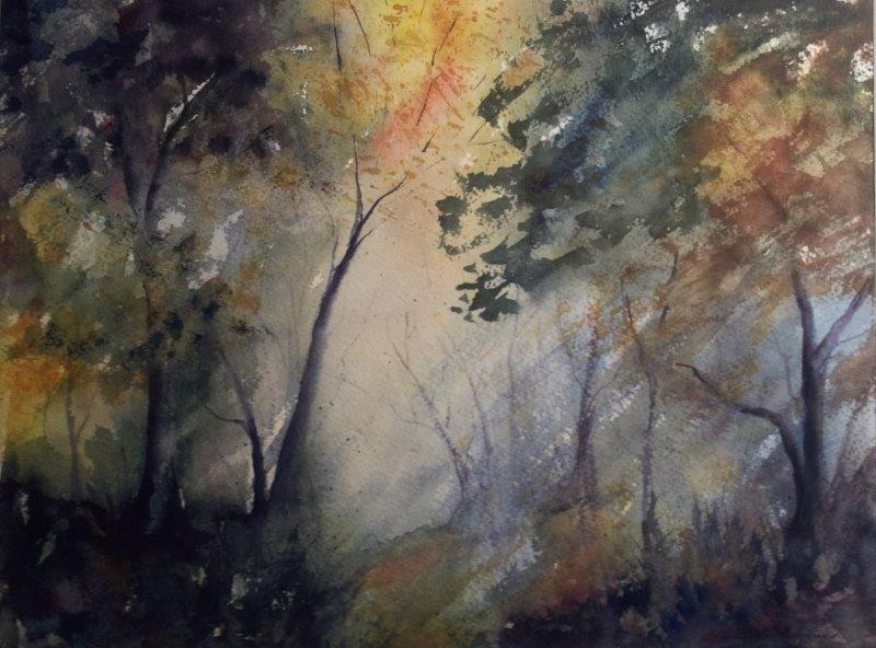 2013 Misty Woods Watercolour