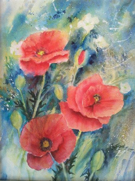 2013 Poppies Watercolour