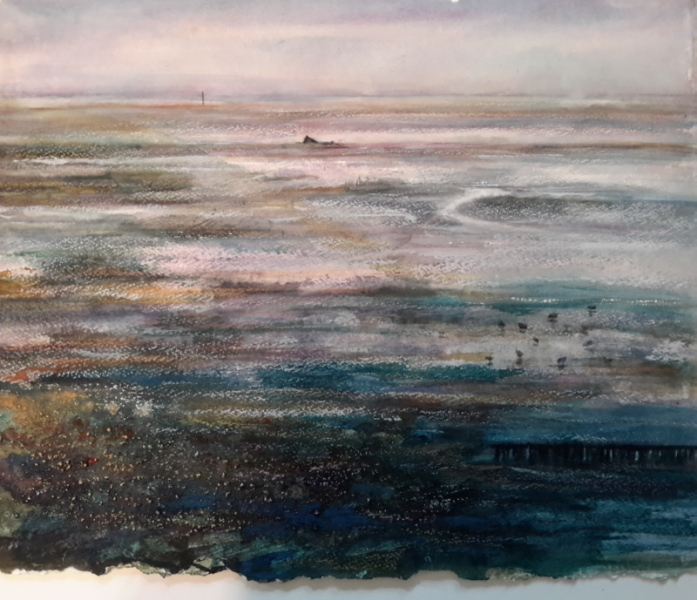 2015 Lytham Estuary Mixed Media