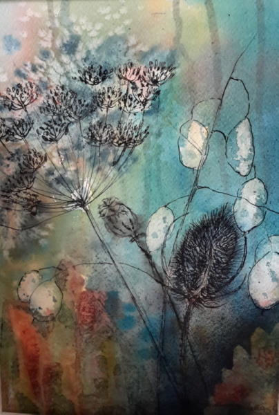 2015 Seedheads Watercolour + ink