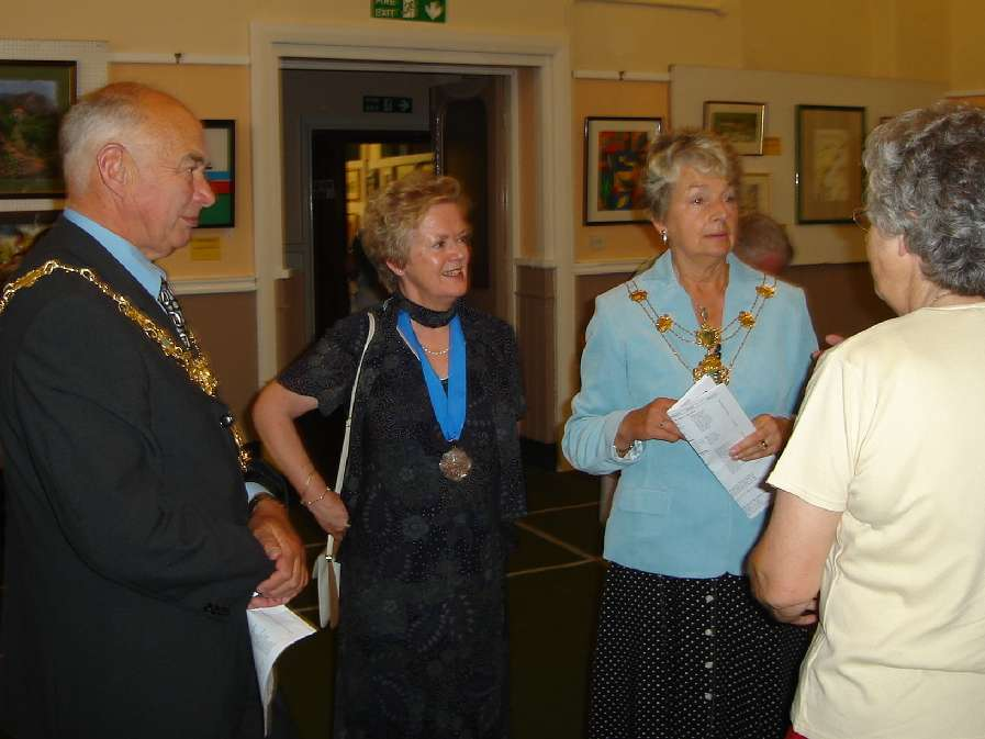 Sandra with Mayor and Mayoress